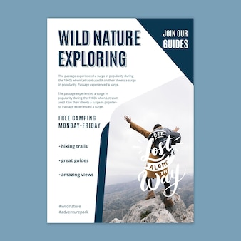 Wild nature vertical flyer template
