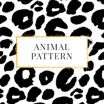 Wild print black and white leopard pattern