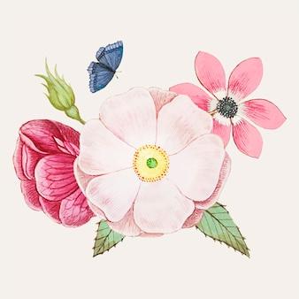 Дикая роза в винтажном стиле