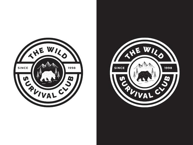 The wild survival logo design concept