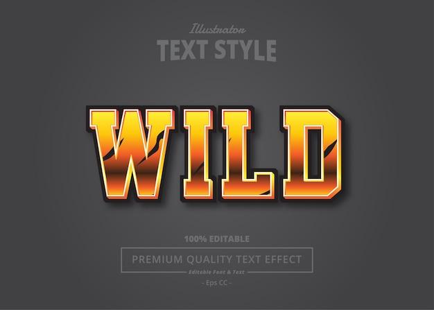Wild  text effect