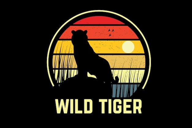 Wild tiger color yellow and orange