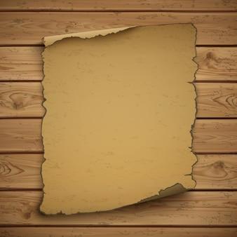 Дикий запад пустой гранж старый плакат на деревянных досках.