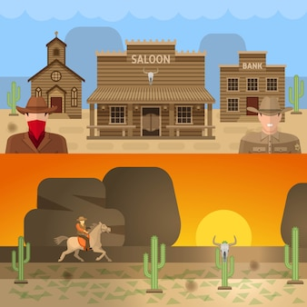 Wild west colored concepts