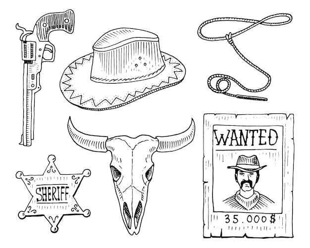 Wild west, rodeo show, cowboy or indians with lasso.