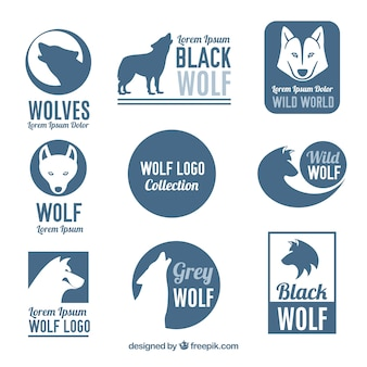 Wild wolf logo collection