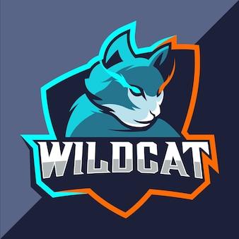 Логотип талисмана wildcats киберспорт