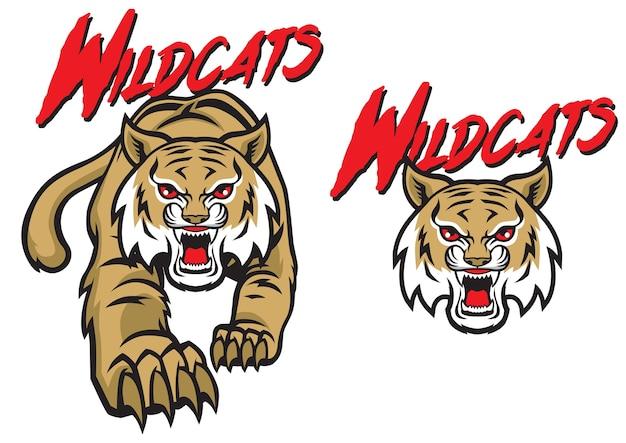 Wildcats mascot set