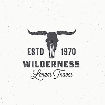 Wilderness abstract  sign, symbol or logo template.