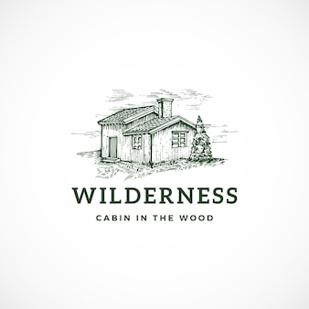 Wilderness abstract sign, symbol or logo