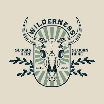 Логотип черепа буйвола