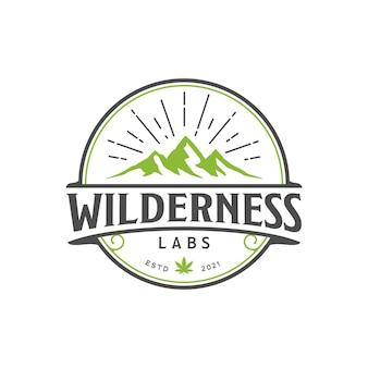 Wilderness mountain cannabis labs logo