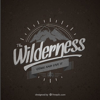 Wilderness vintage badge