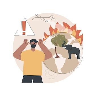 Illustrazione di incendi boschivi