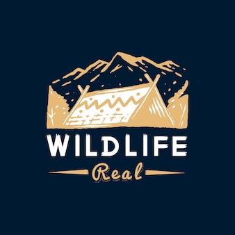 野生生物と冒険のバッジ
