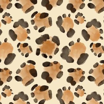 野生動物のプリント水彩シームレスパターン