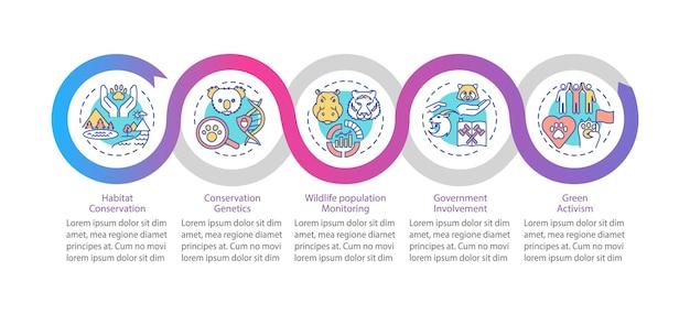 Шаблон инфографики сохранения дикой природы