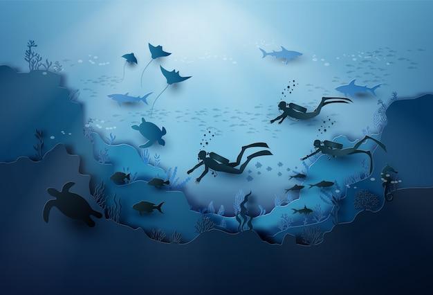 海中の野生生物