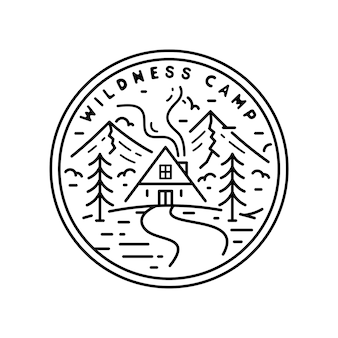 Wildness camp monoline vintage badge