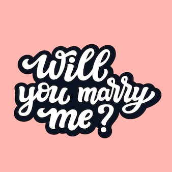 Will you marry me template