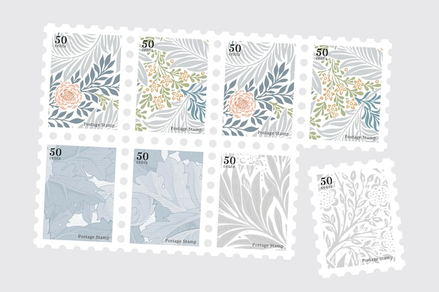 Stampset con motivo william morris
