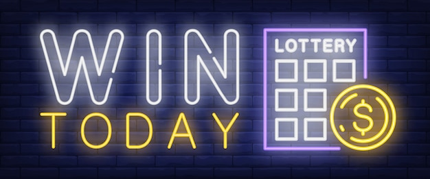 Win today neon sign