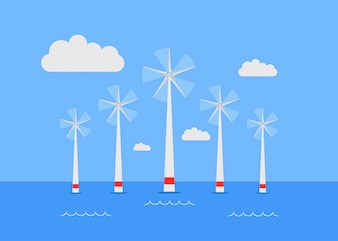 Wind generators on water, Rotating wind generators