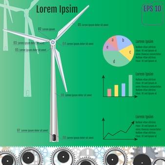 Wind infographics.