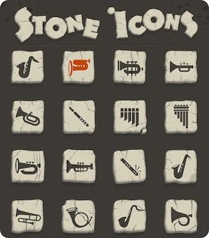 Веб-иконки духовых инструментов для дизайна пользовательского интерфейса
