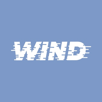 Wind  lettering word