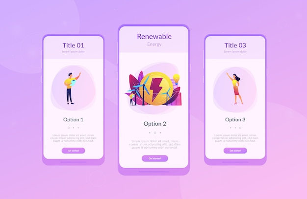 Wind power app interface template.
