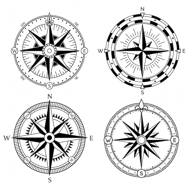 Wind rose retro design