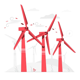 Wind turbine concept illustration