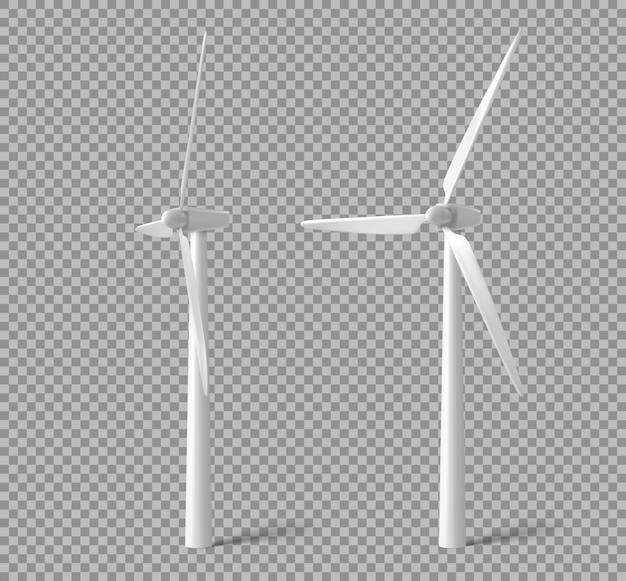 Wind turbines, windmills energy power generators
