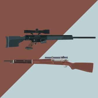 Scoot magnum sniper vector illustration Vector | Premium Download