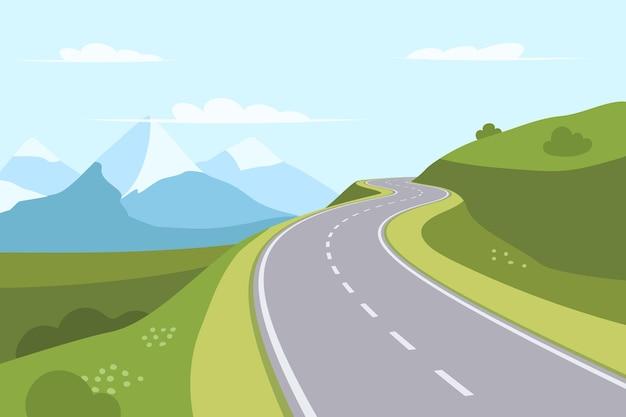 Извилистая дорога в горы