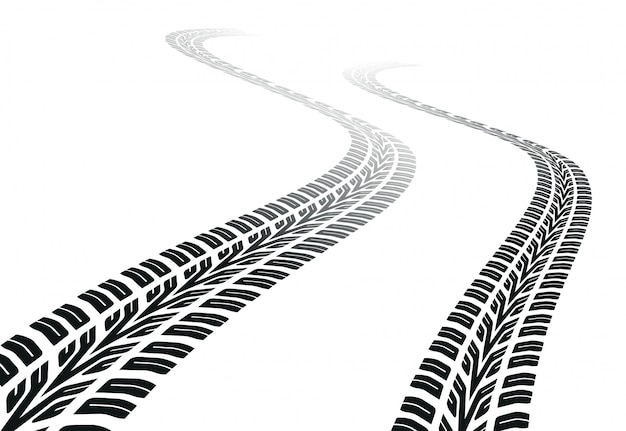 Winding trace of the tires