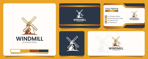 Windmill , agriculture , logo design and business card