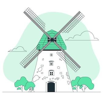 Windmill concept illustration