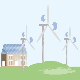 草の中の風車