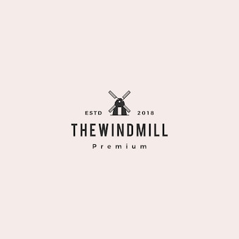 Windmill logo vector icon illustration