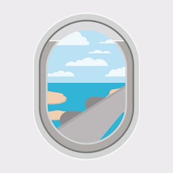 Window airplane travel view