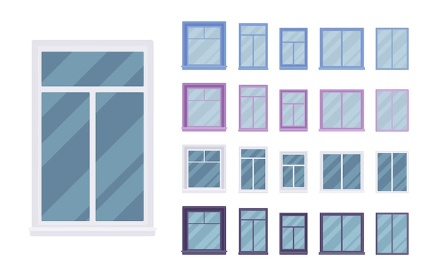 Window for building fitted with glass in a frame