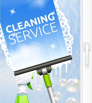Window cleaning service concept