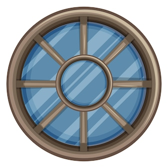 丸いフレームの窓のデザイン