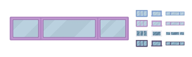 Окно для строительства со стеклом в раме