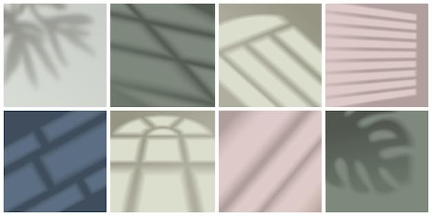 창 빛과 그림자 현실적인 장식 세트 격리 된 그림