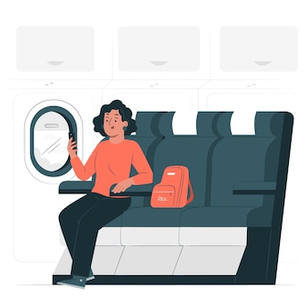 Window seat concept illustration