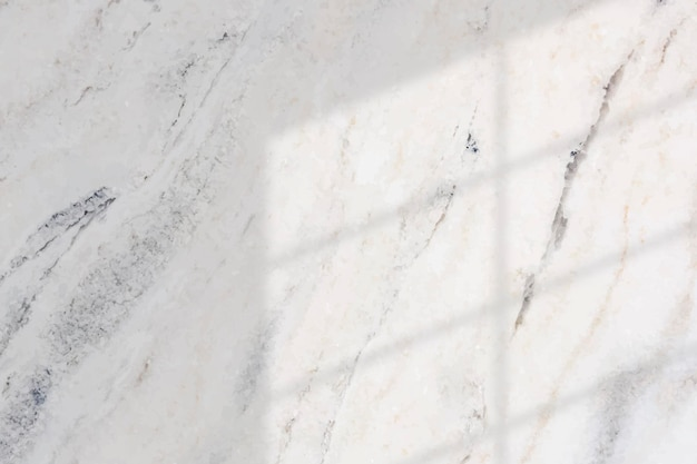 Window shadow on white marble background