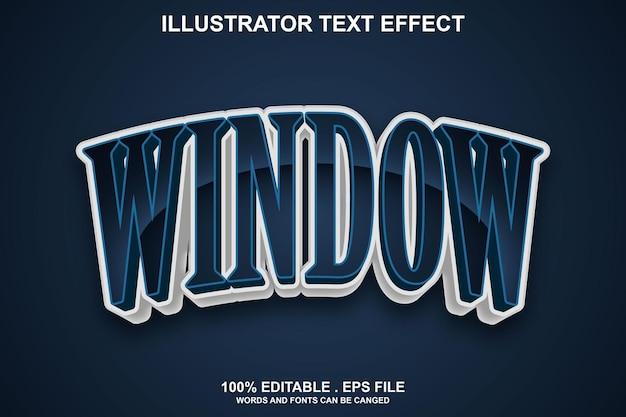 Редактируемый текстовый эффект окна